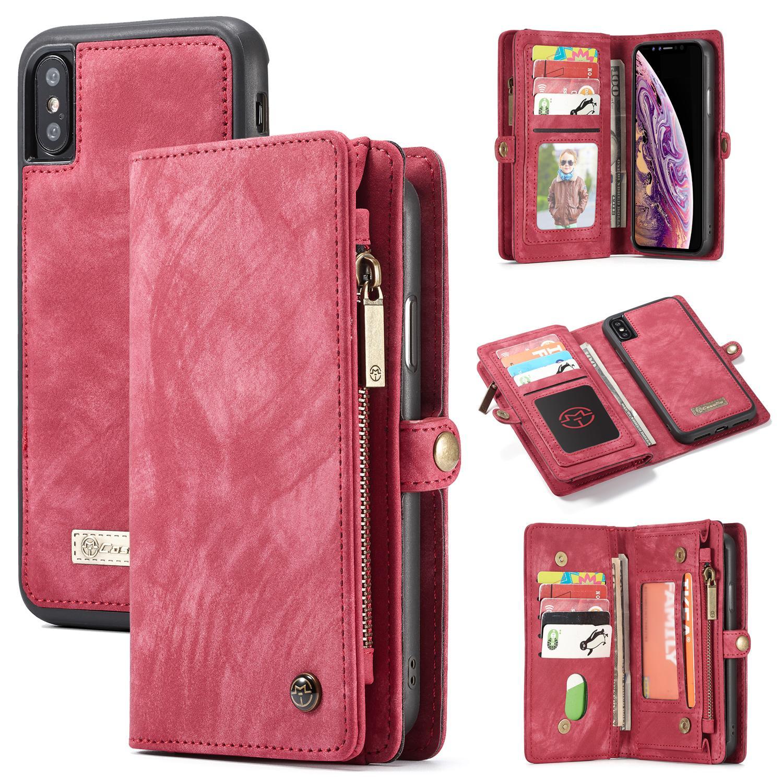 Multi-slot Plånboksfodral iPhone XS Max röd