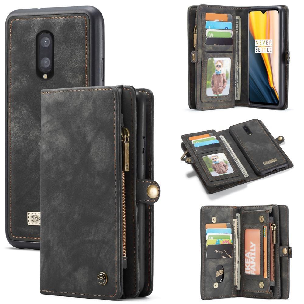Multi-slot Plånboksfodral OnePlus 7 grå