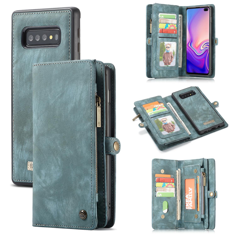 Multi-slot Plånboksfodral Samsung Galaxy S10 blå