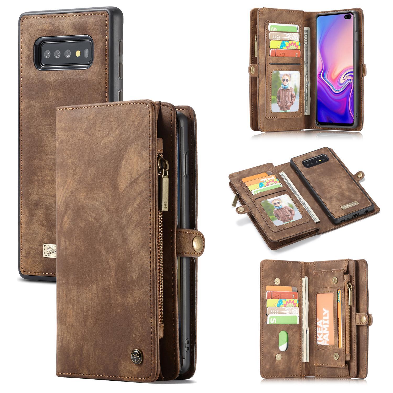 Multi-slot Plånboksfodral Samsung Galaxy S10 brun
