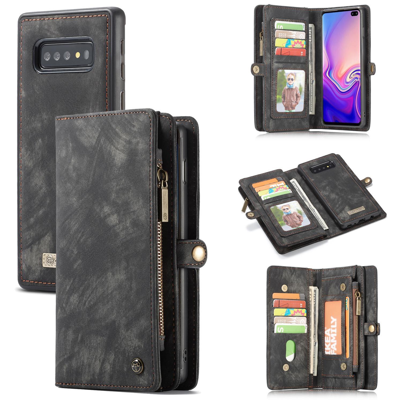 Multi-slot Plånboksfodral Samsung Galaxy S10 grå