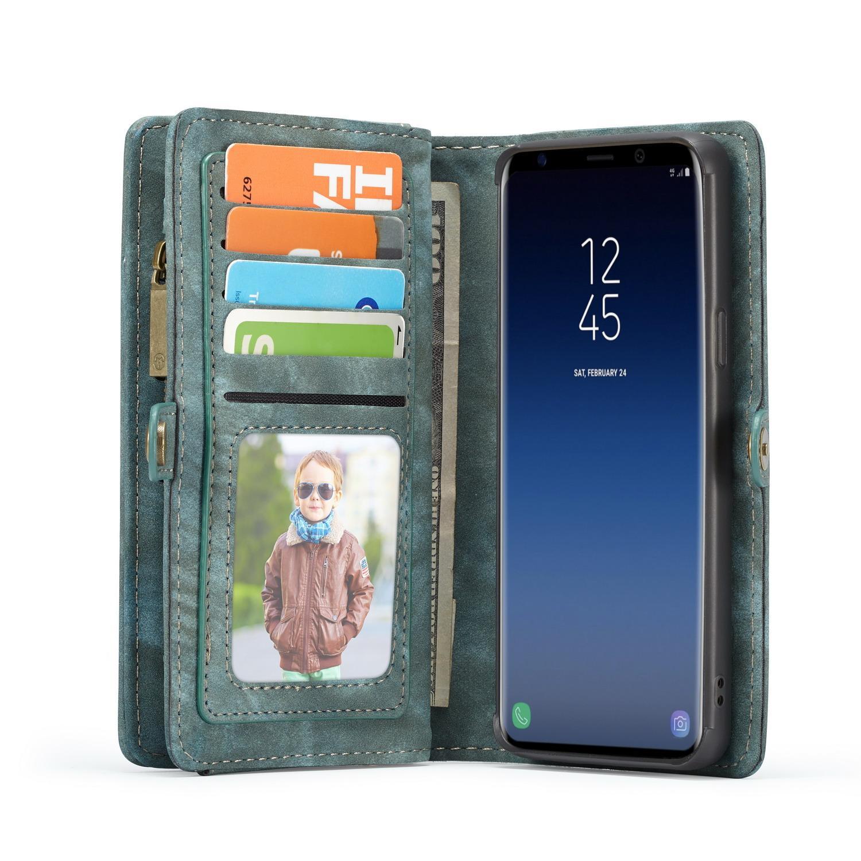 Multi-slot Plånboksfodral Samsung Galaxy S9 blå