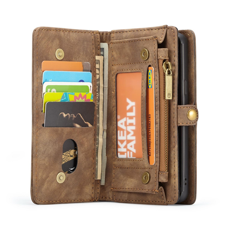 Multi-slot Plånboksfodral Samsung Galaxy S9 brun