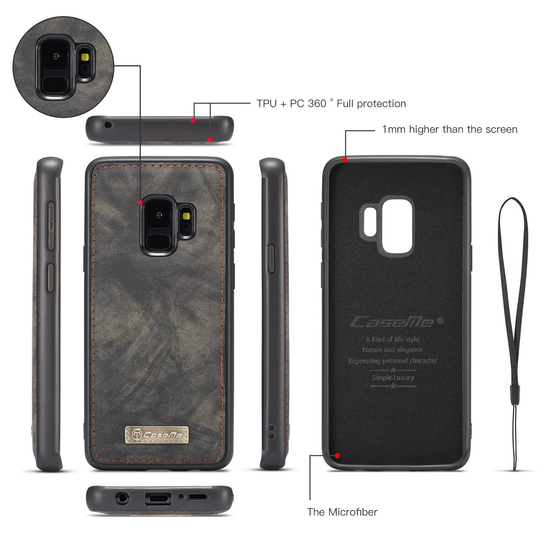 Multi-slot Plånboksfodral Samsung Galaxy S9 grå