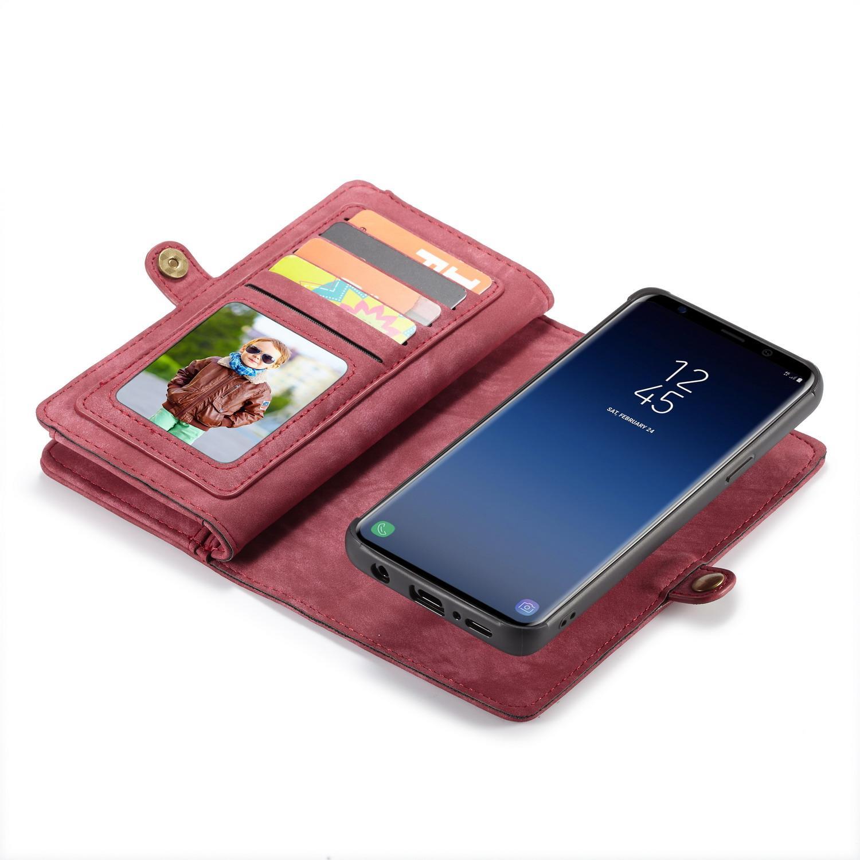 Multi-slot Plånboksfodral Samsung Galaxy S9 röd
