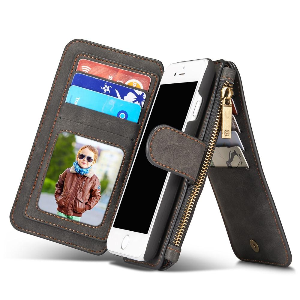 Multi-slot Flipfodral iPhone 7/8/SE 2020 grå