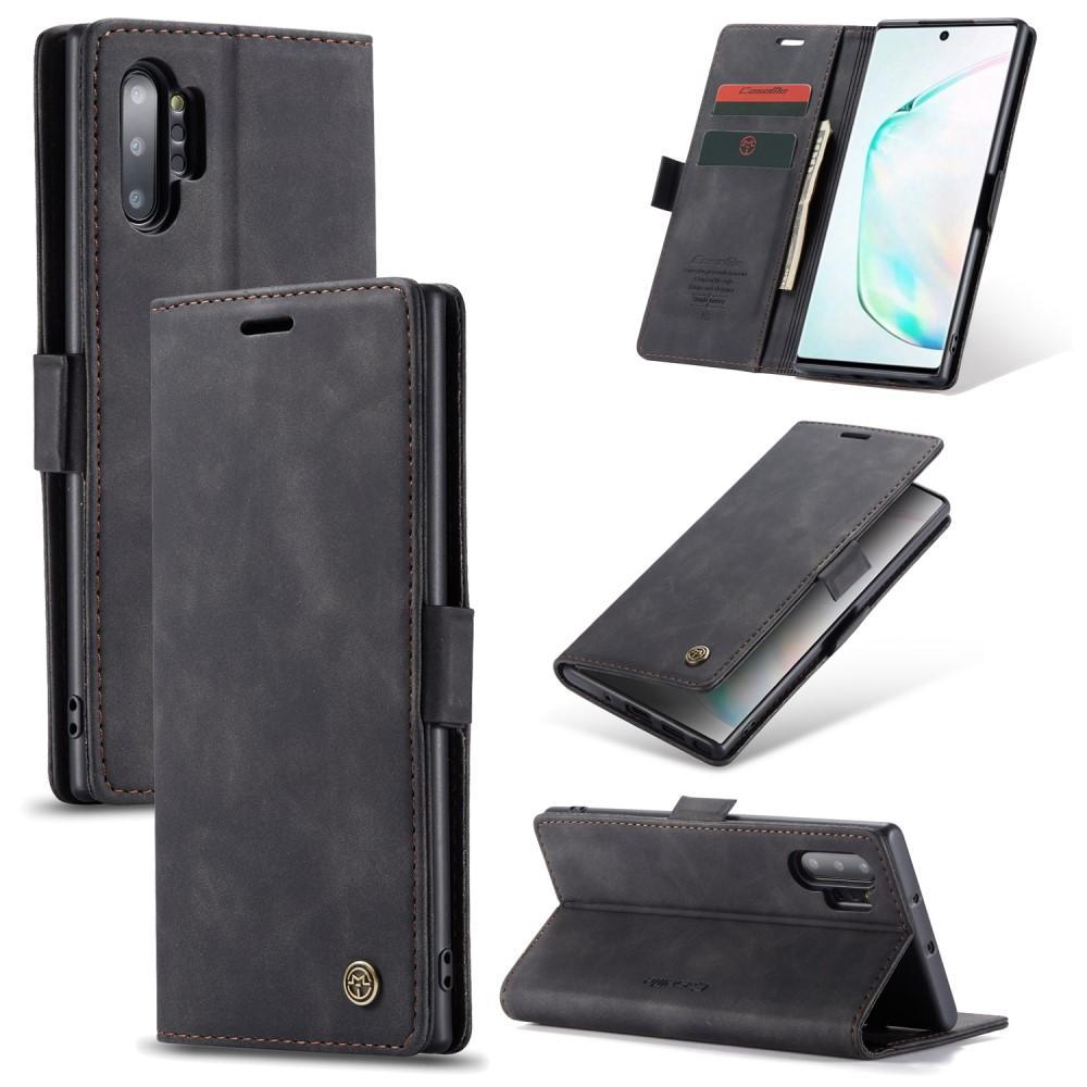 Slim Plånboksfodral Galaxy Note 10 Plus svart
