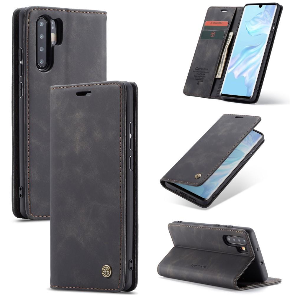 Slim Plånboksfodral Huawei P30 Pro svart