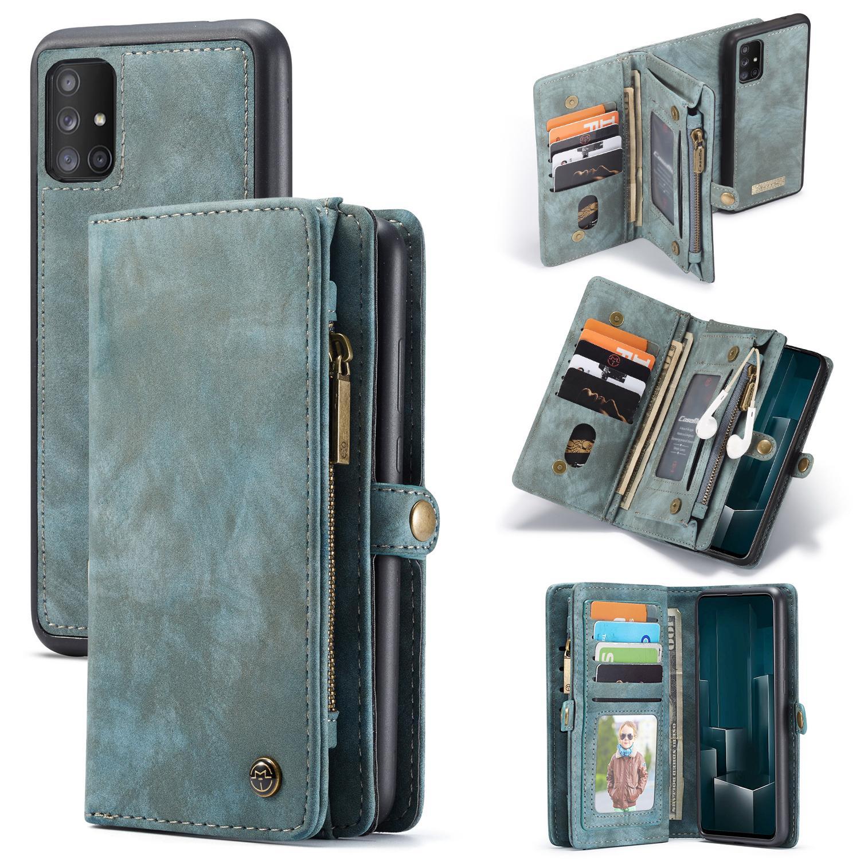 Multi-slot Plånboksfodral Galaxy A51 blå