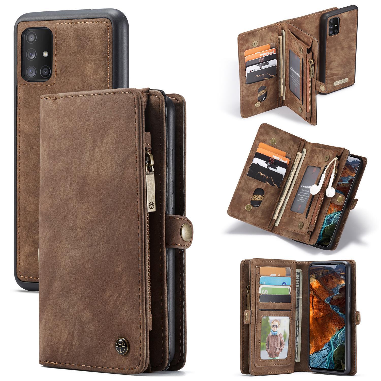 Multi-slot Plånboksfodral Galaxy A51 brun