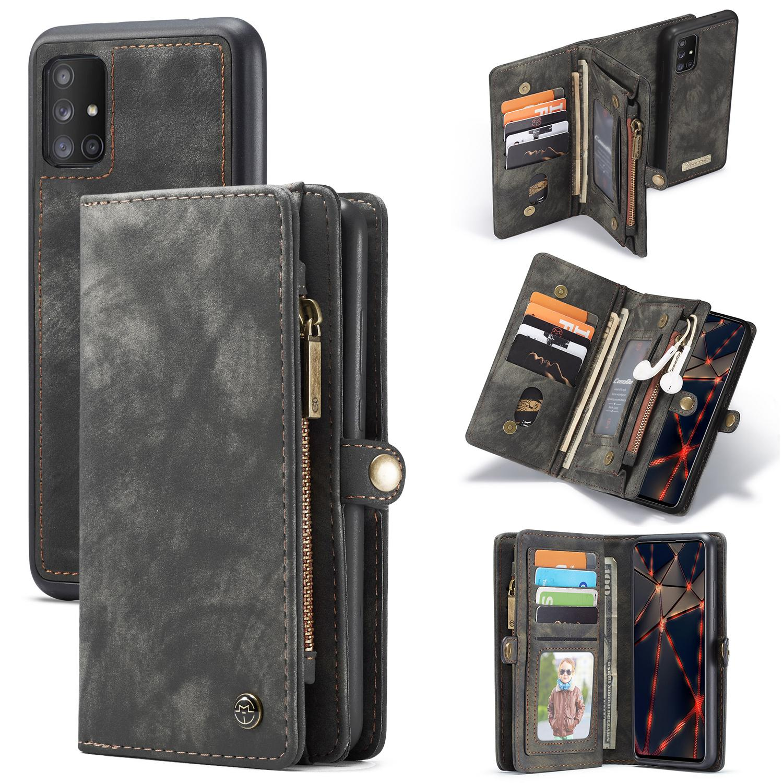 Multi-slot Plånboksfodral Galaxy A51 grå