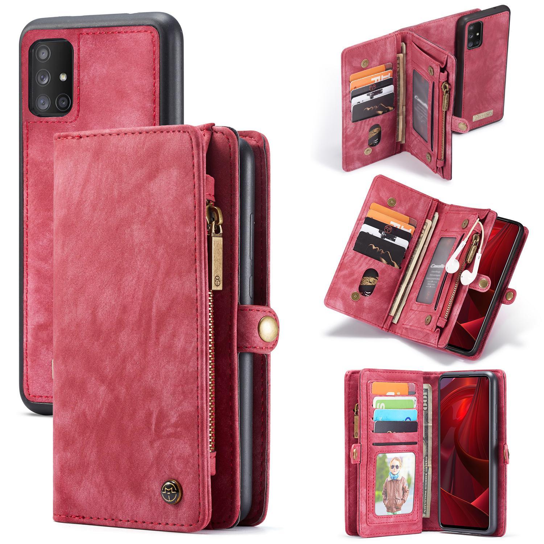 Multi-slot Plånboksfodral Galaxy A51 röd