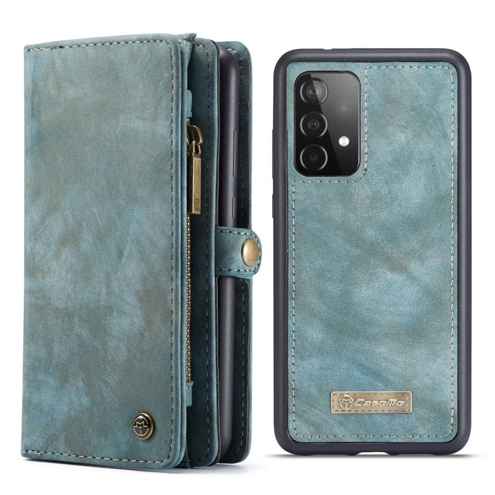 Multi-slot Plånboksfodral Galaxy A52 blå