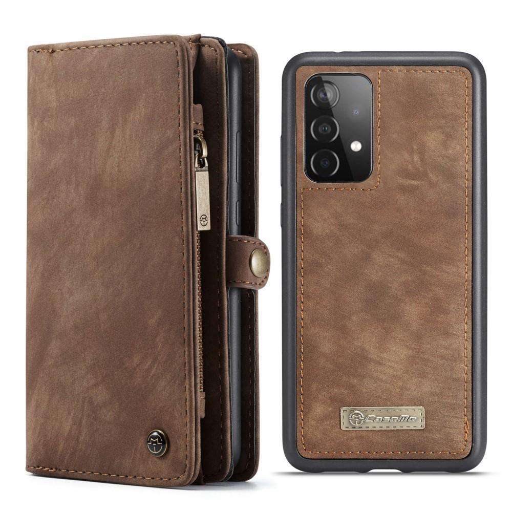 Multi-slot Plånboksfodral Galaxy A52 brun