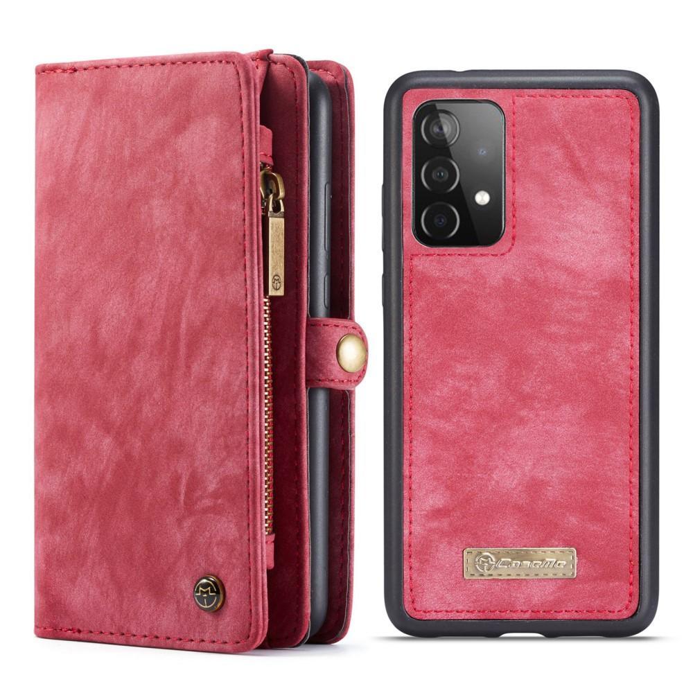 Multi-slot Plånboksfodral Galaxy A52 röd