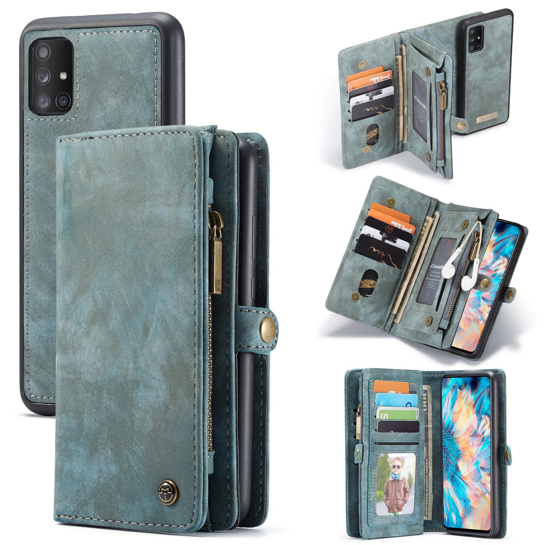 Multi-slot Plånboksfodral Galaxy A71 blå
