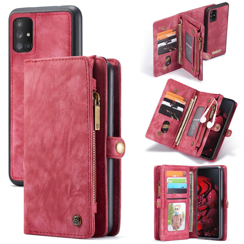 Multi-slot Plånboksfodral Galaxy A71 röd