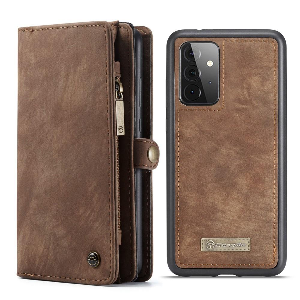 Multi-slot Plånboksfodral Galaxy A72 5G brun