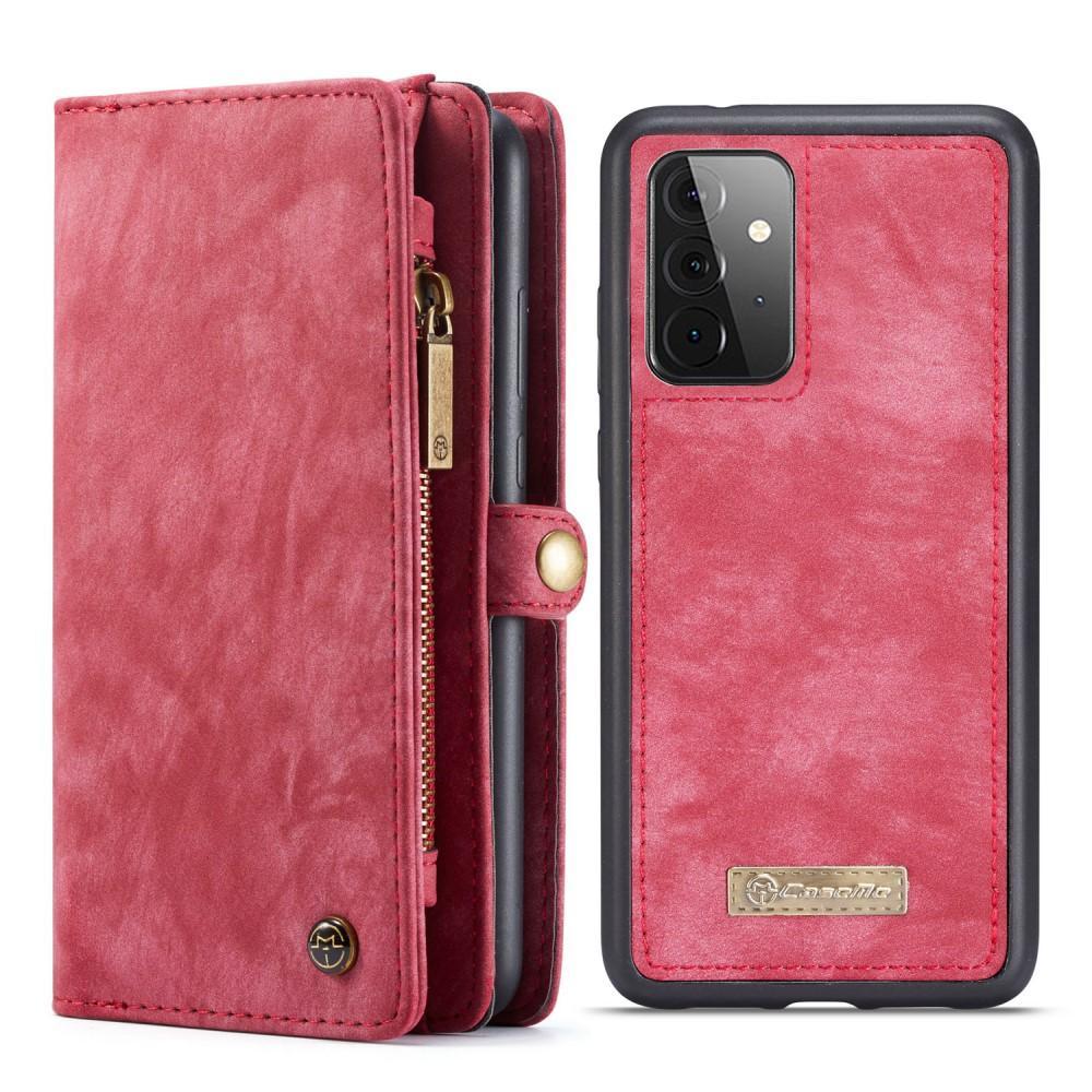 Multi-slot Plånboksfodral Galaxy A72 5G röd