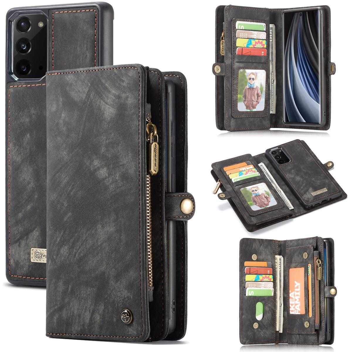 Multi-slot Plånboksfodral Galaxy Note 20 grå