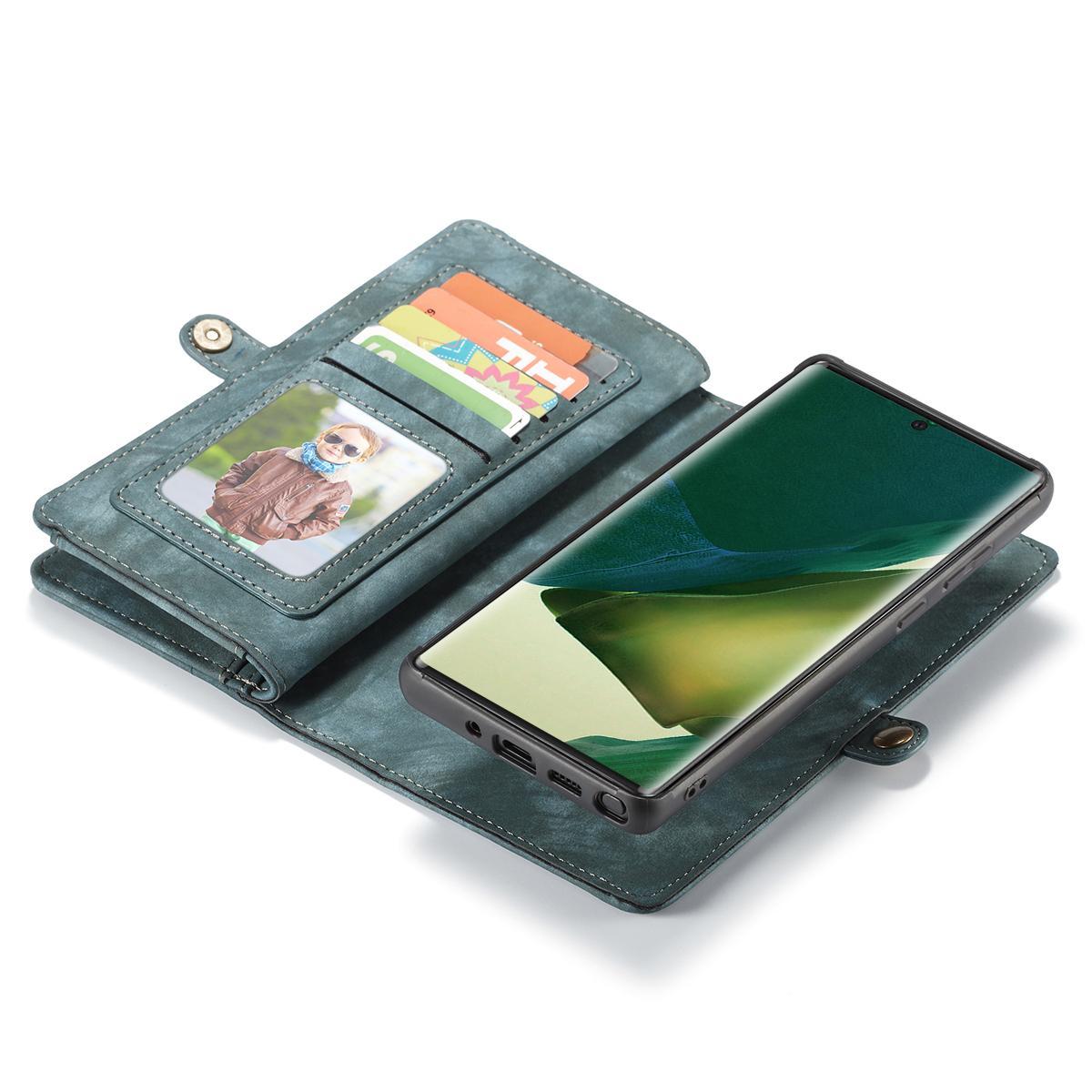 Multi-slot Plånboksfodral Galaxy Note 20 Ultra blå