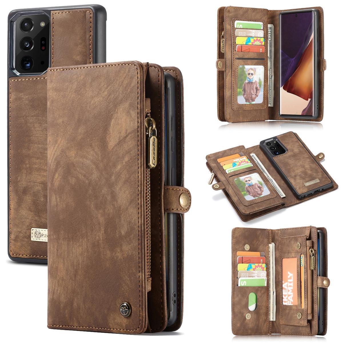 Multi-slot Plånboksfodral Galaxy Note 20 Ultra brun