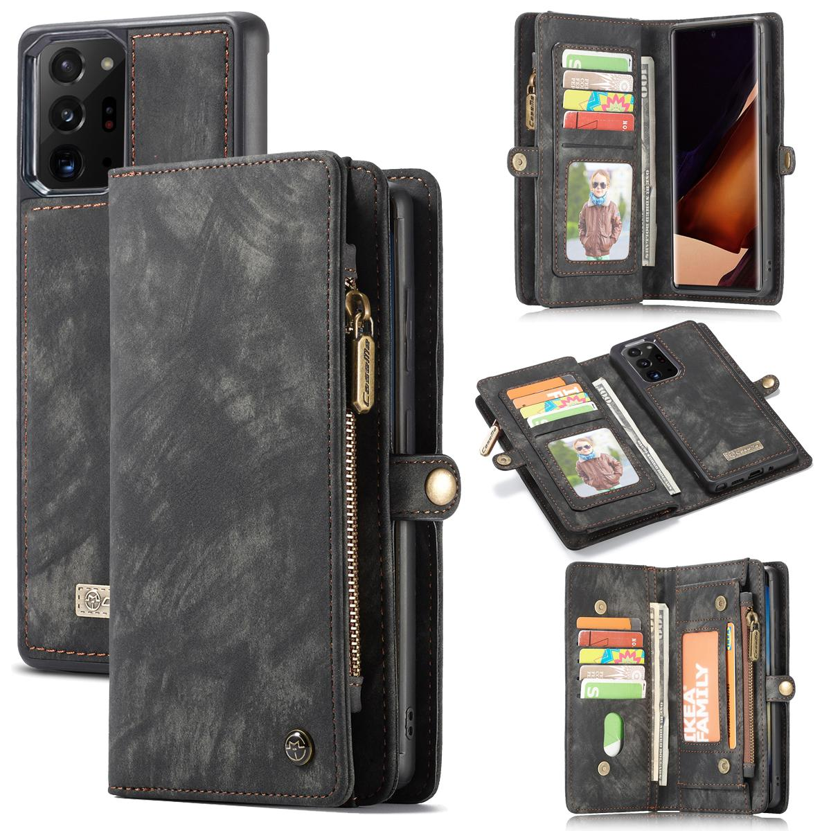 Multi-slot Plånboksfodral Galaxy Note 20 Ultra grå