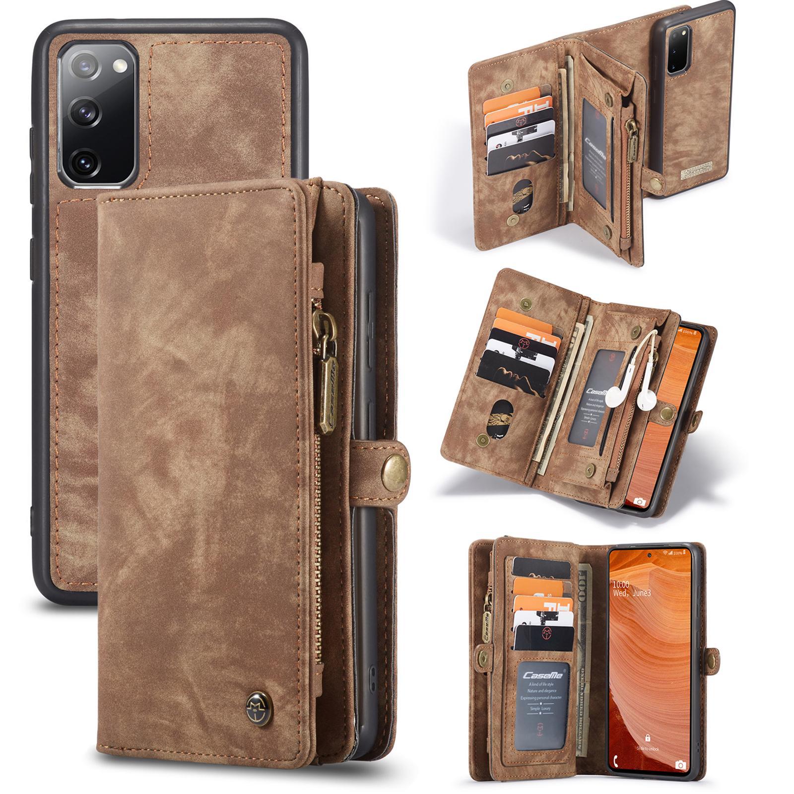 Multi-slot Plånboksfodral Galaxy S20 FE brun