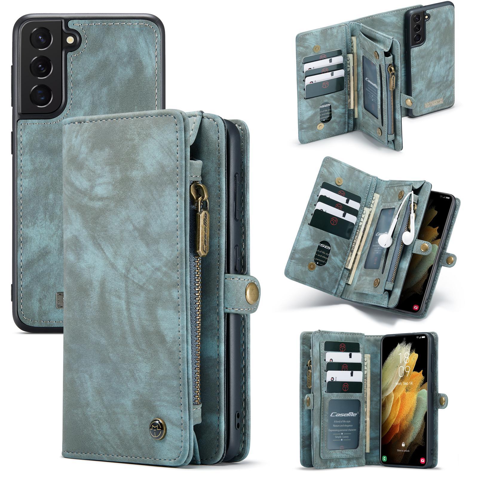 Multi-slot Plånboksfodral Galaxy S21 blå