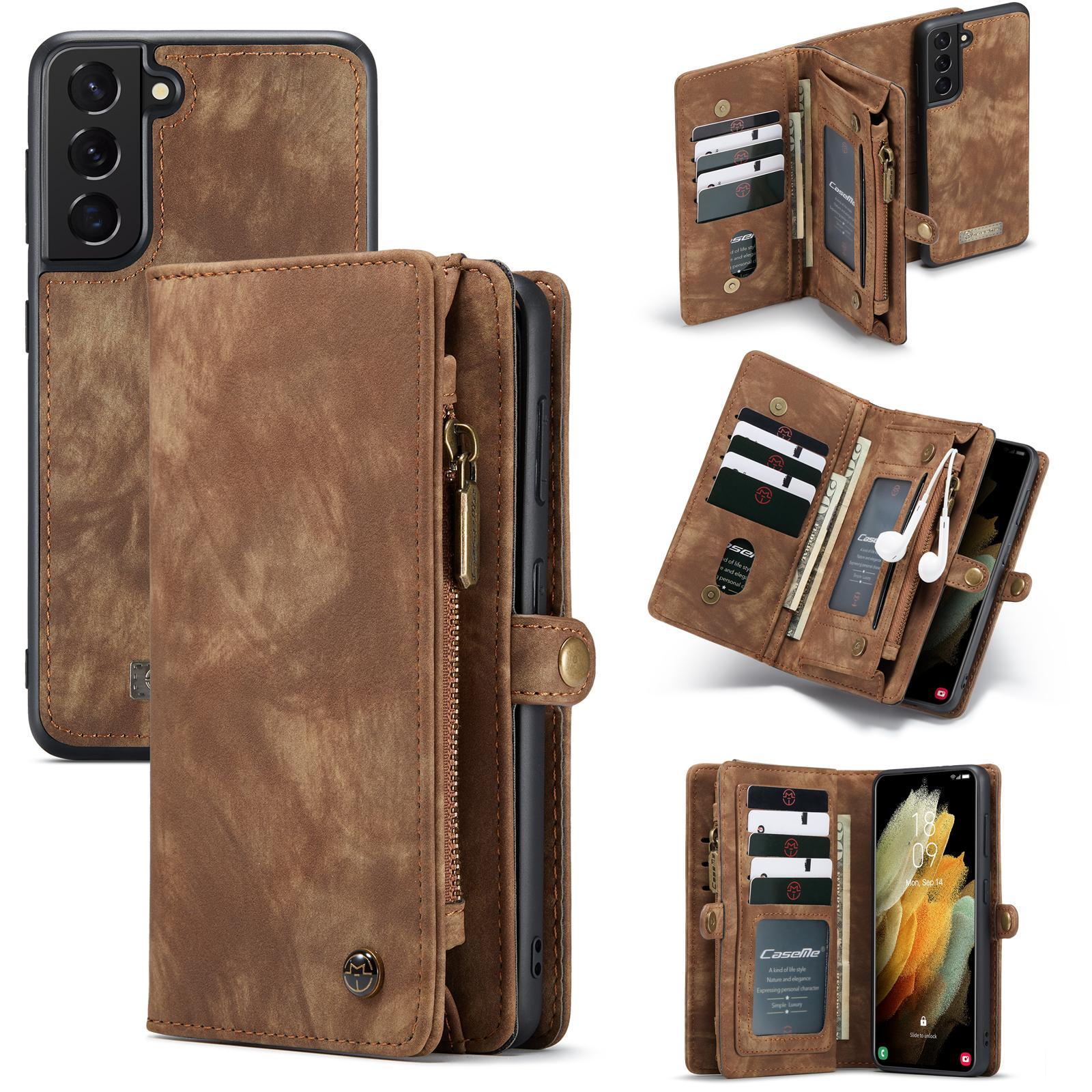 Multi-slot Plånboksfodral Galaxy S21 Plus brun