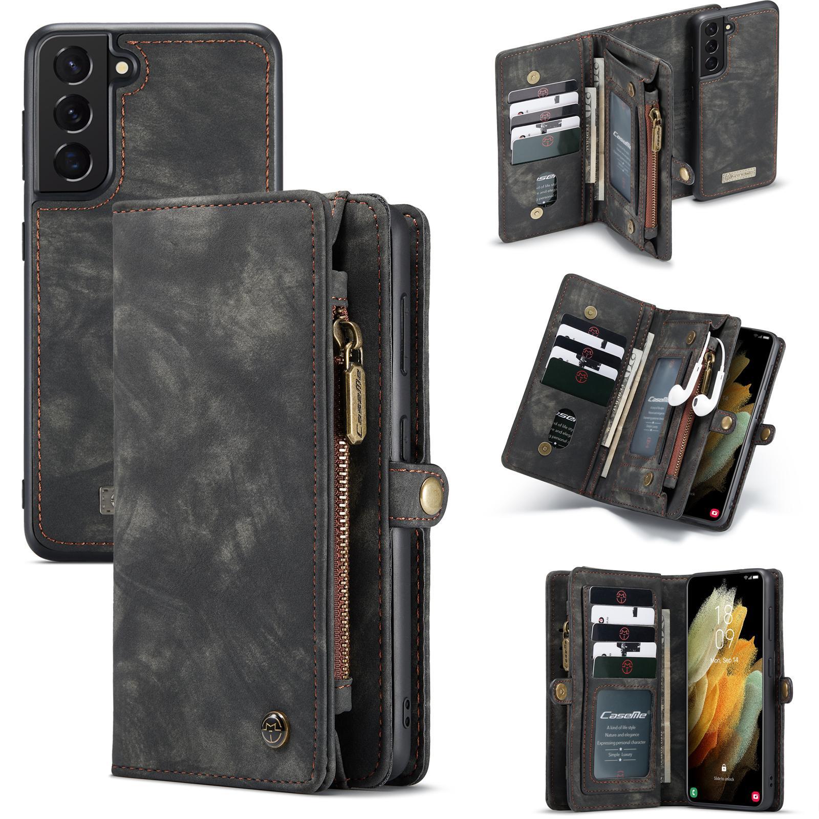 Multi-slot Plånboksfodral Galaxy S21 Plus grå