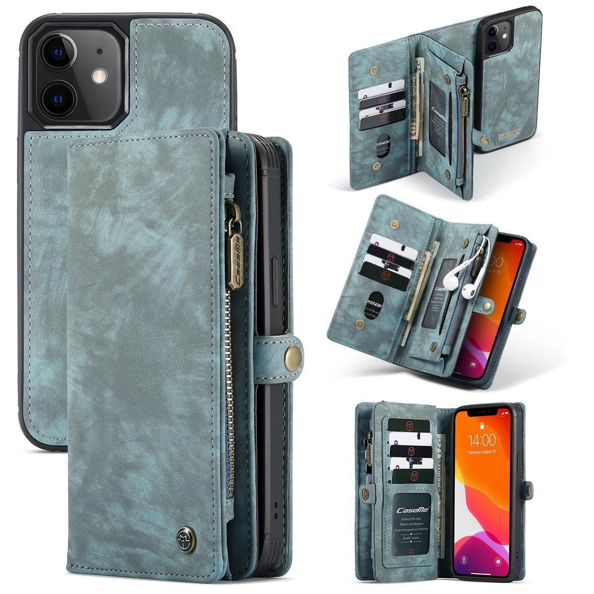 Multi-slot Plånboksfodral iPhone 12 Mini blå