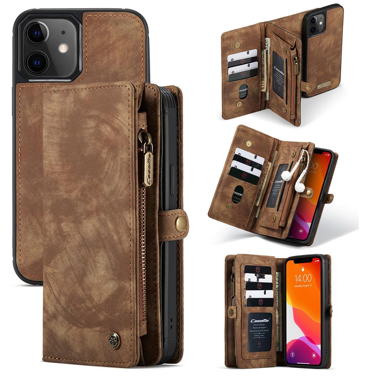 Multi-slot Plånboksfodral iPhone 12 Mini brun