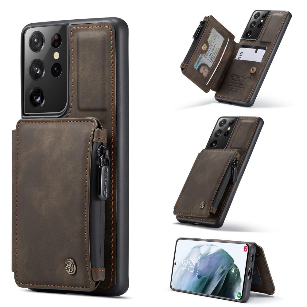 Multi-slot Skal Galaxy S21 Ultra brun