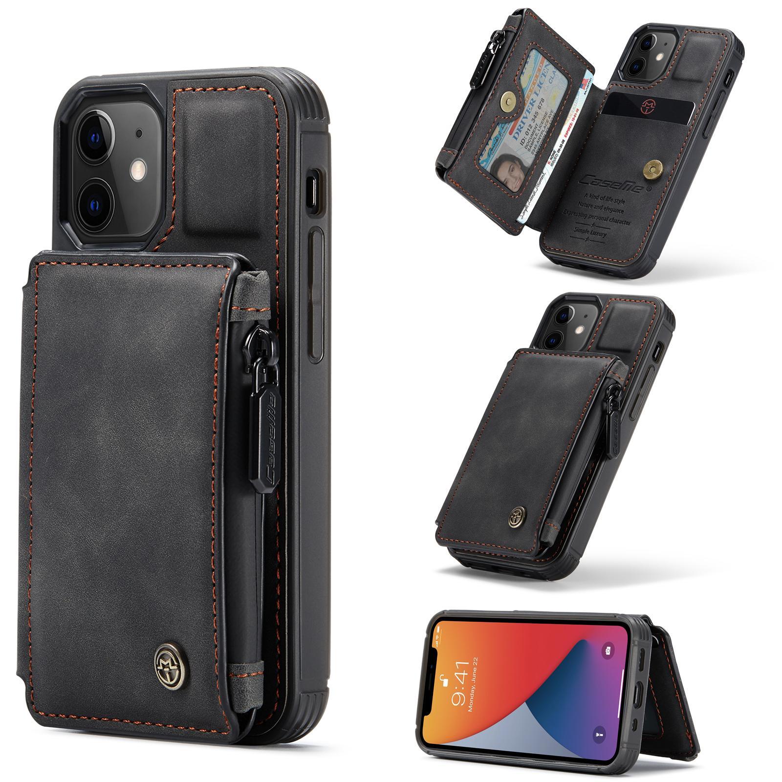 Multi-slot Skal iPhone 12 Mini svart