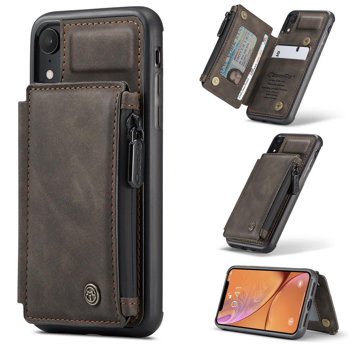 Multi-slot Skal iPhone XR brun