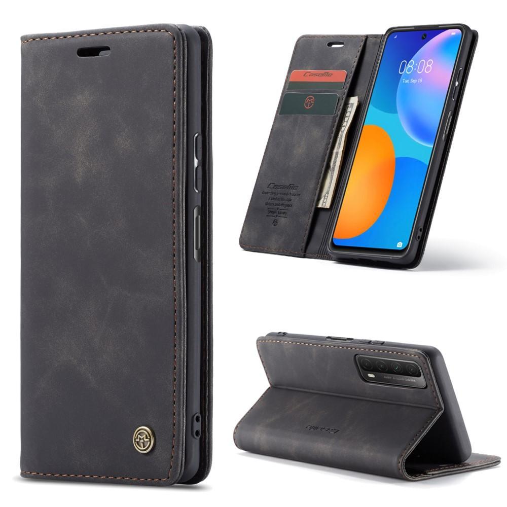 Slim Plånboksfodral Huawei P Smart 2021 svart