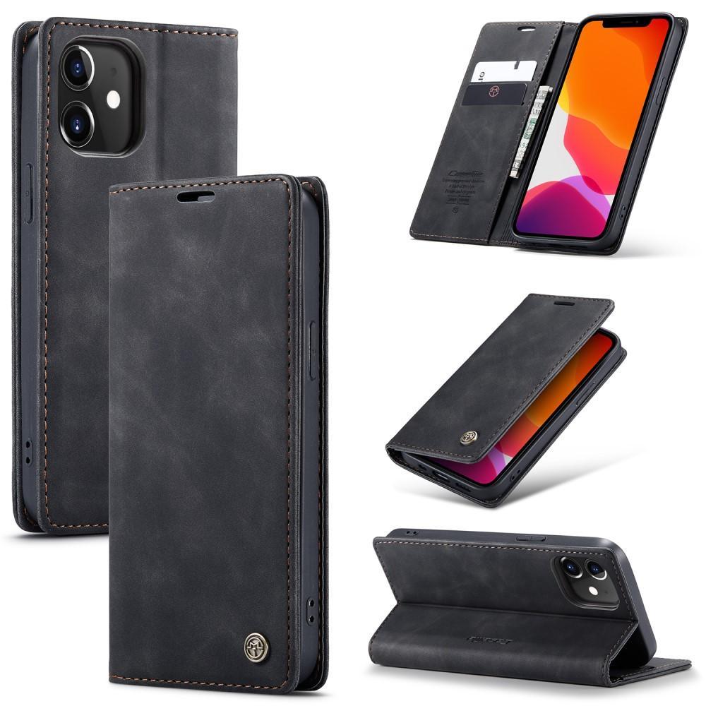 Slim Plånboksfodral iPhone 12 Mini svart