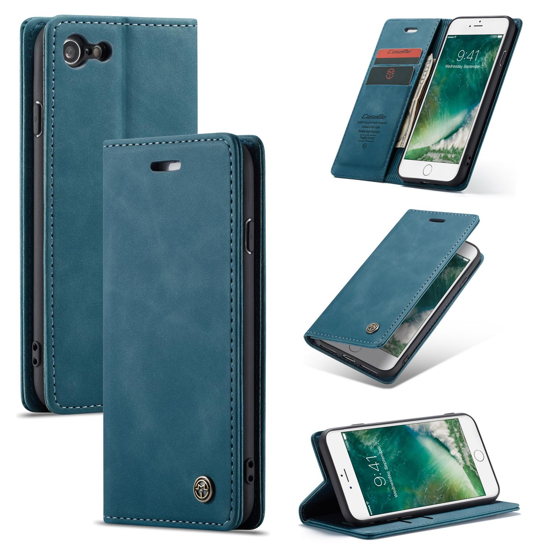 Slim Plånboksfodral iPhone 7/8/SE 2020 blå