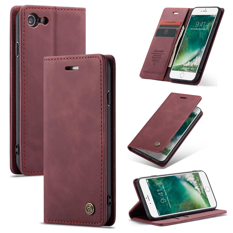 Slim Plånboksfodral iPhone 7/8/SE 2020 röd