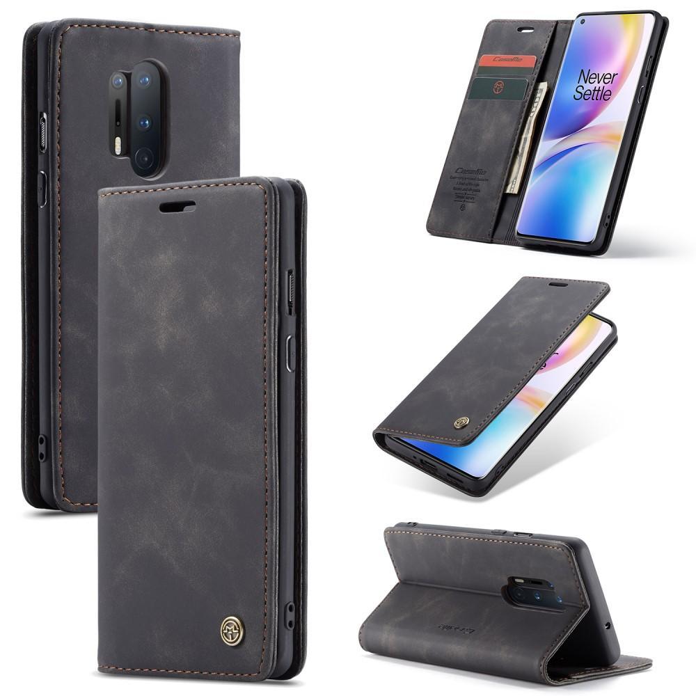 Slim Plånboksfodral OnePlus 8 Pro svart