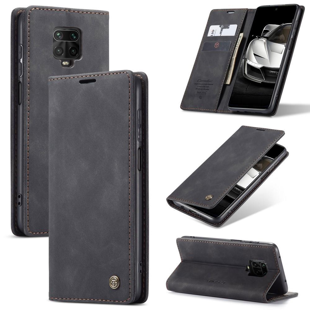 Slim Plånboksfodral Redmi Note 9 Pro/9S svart