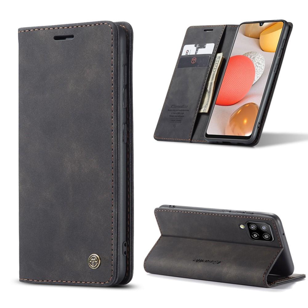 Slim Plånboksfodral Samsung Galaxy A42 5G svart