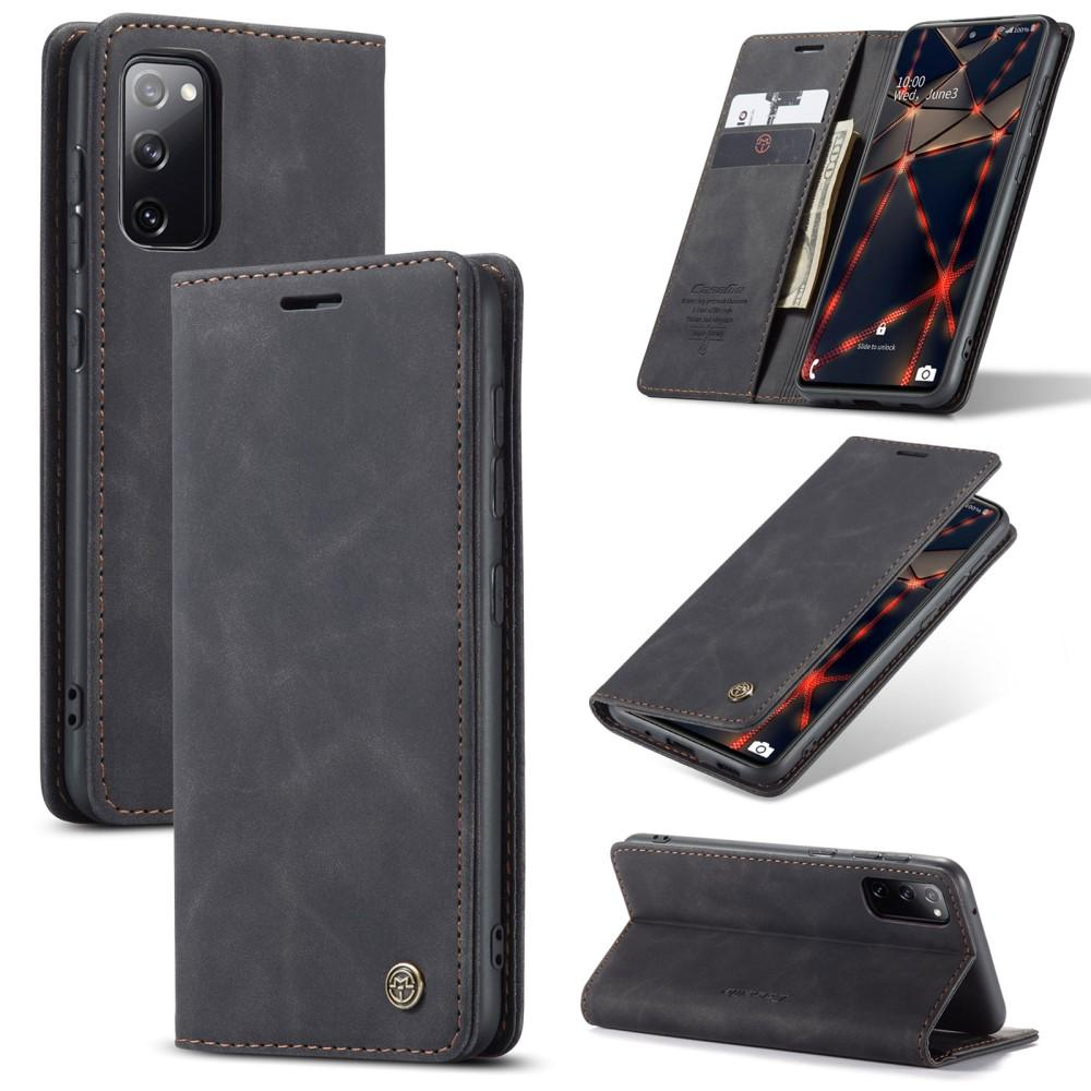 Slim Plånboksfodral Samsung Galaxy S20 FE svart
