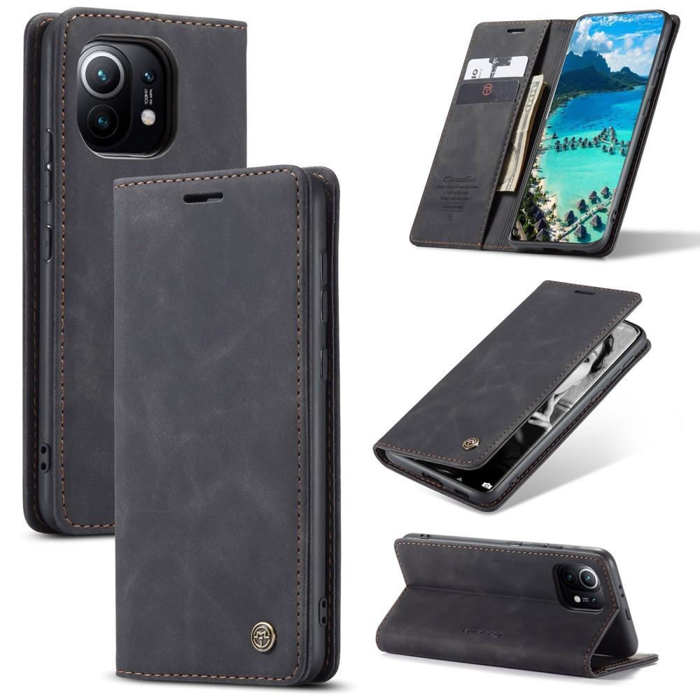 Slim Plånboksfodral Xiaomi Mi 11 svart