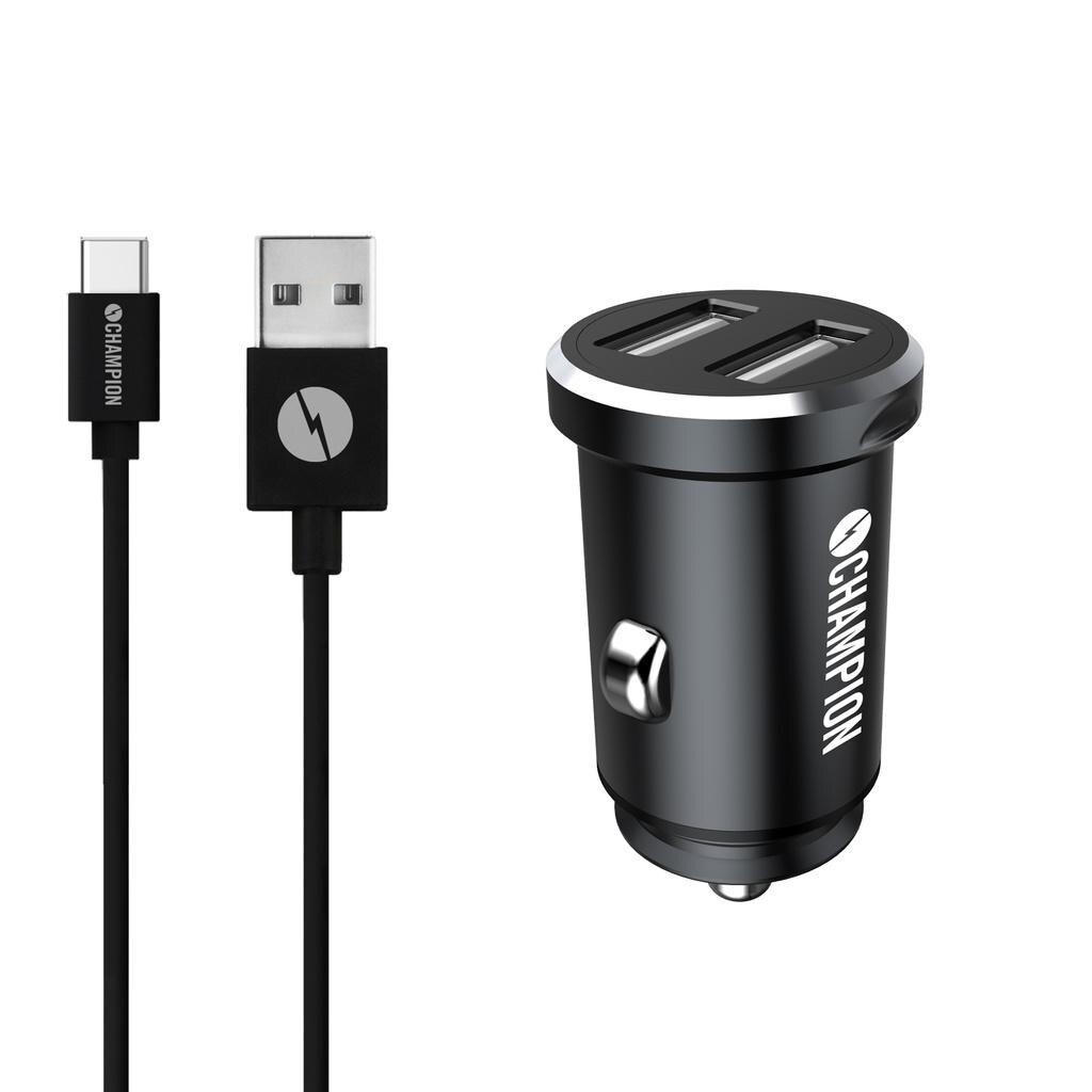Ladd & Synk Dual USB-C Bil Svart