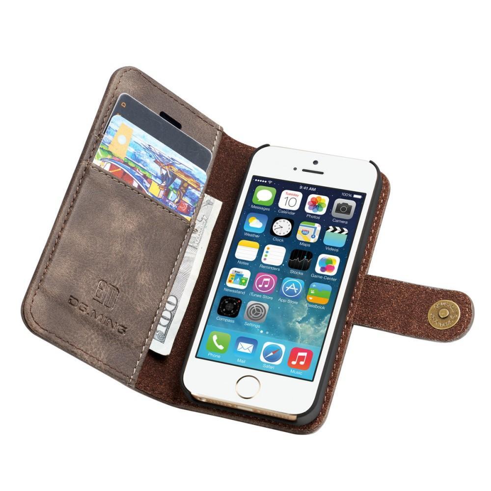 Magnet Wallet iPhone 5/5S/SE Brown