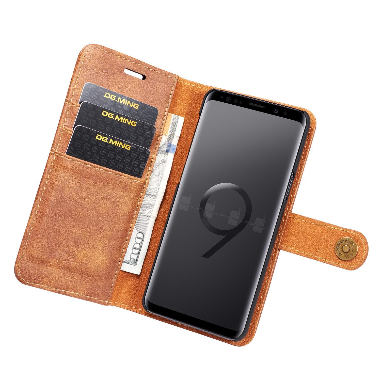 Magnet Wallet Samsung Galaxy S9 Plus Cognac