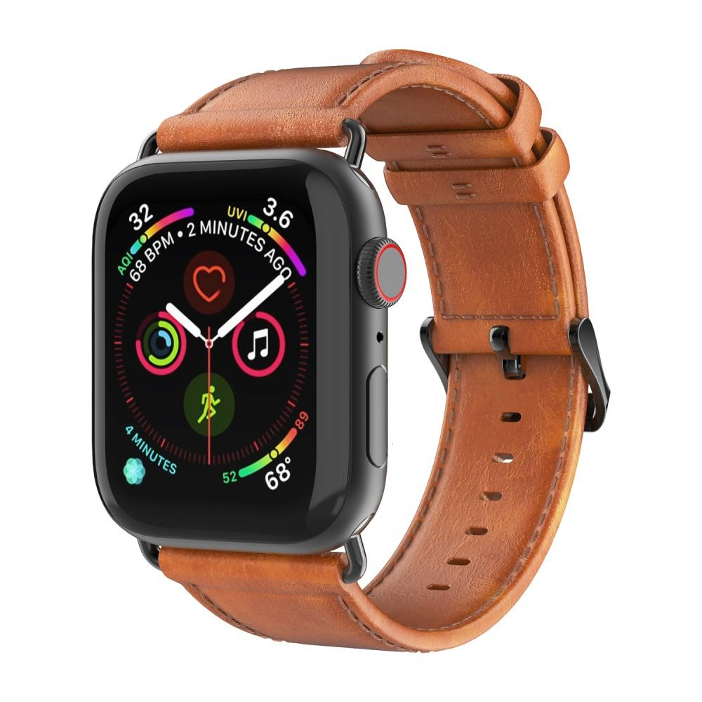 Leather Armband Apple Watch 42/44/45 mm Tan