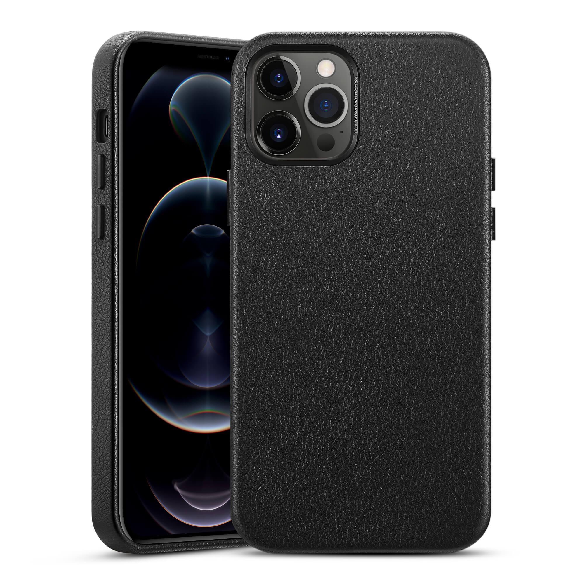 Premium Leather Case iPhone 12/12 Pro Black